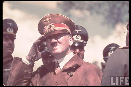 Adolf Hitler's field visor caps