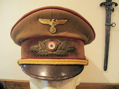 NSDAP Caps With Hand Embroidered Insignia