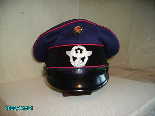 Fire Brigade cap made by Herman  Schellhorn