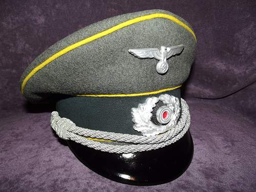 WH Signals Officer Visor by C. Louis Weber