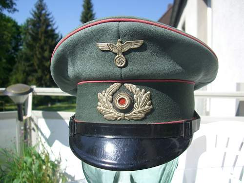 Evolution of the army field cap......1871 to 1945.