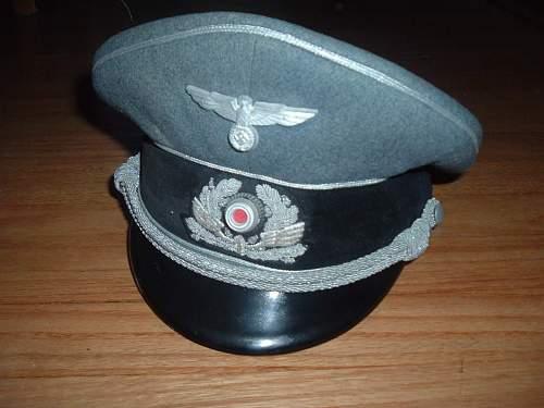 Bahnpolizei Officer's Visor Cap