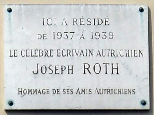 Click image for larger version.  Name:Plaque_Joseph_Roth,_18_rue_de_Tournon,_Paris_6.jpg Views:8 Size:72.1 KB ID:276789