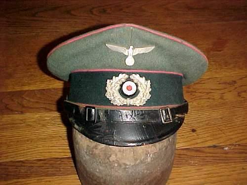 Heer Panzer enlisted/NCO's schirmutze