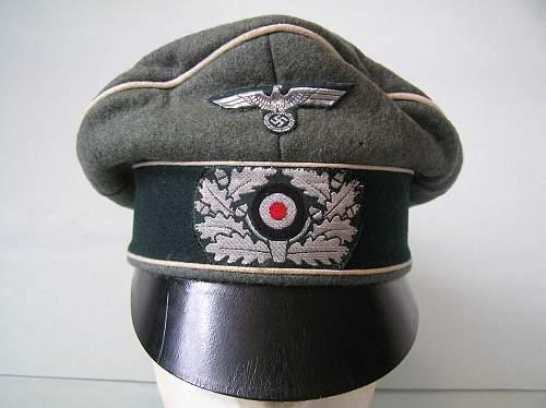 Heer Infanterie Offiziers feldmutze alter Art