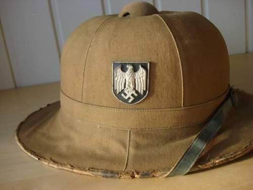 Afrikakorps tropenhelm