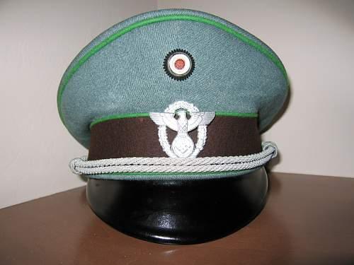 Erel Schupo Officer's schirmutze