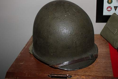 Click image for larger version.  Name:Dad's WWII Helmet.jpg Views:68 Size:53.9 KB ID:328350