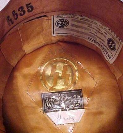 Black-SS Visor Hat, Herst. 59