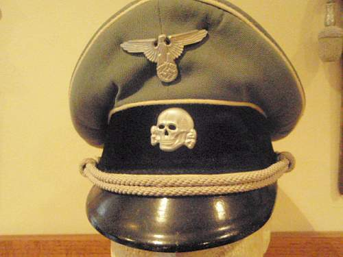 Gray SS Officer Schirmutze