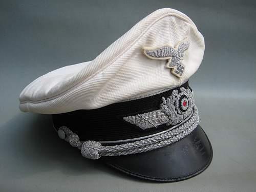 My Luftwaffe officers schirmutze, a nice one.
