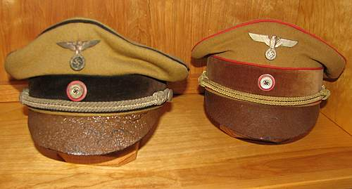 Click image for larger version.  Name:Early leather visored Kreis and Gauleiters.jpg Views:148 Size:53.6 KB ID:376645