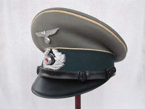 EM/NCO Heer Infantry Visor Cap - My Very First Visor!