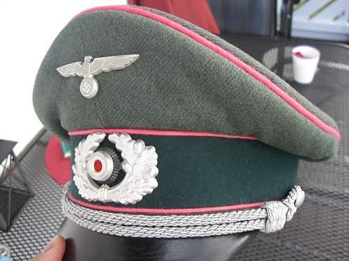 Heer Panzer Officers Schirmmutze