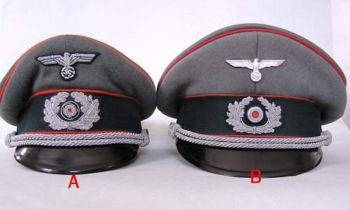 Military Police/Recruiting officer visor cap