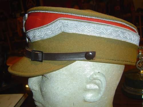 Unusual SA General Officer Cap