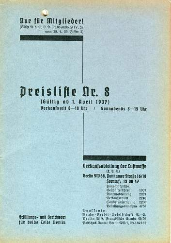 Click image for larger version.  Name:Luftwaffe Price List #1.jpg Views:149 Size:89.1 KB ID:459451
