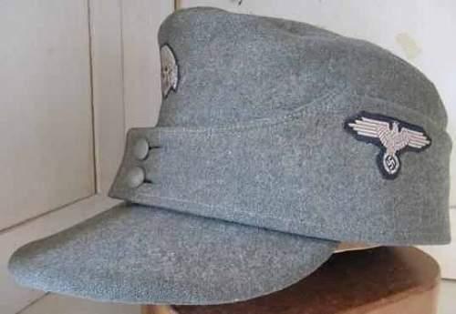 SS M43 Einheitsfeldmutze in German wool