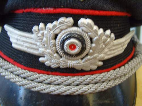 My M.35 Luftwaffe Flak Senior NCO/Officer Candidate Visor Cap, value and date of production, please ?
