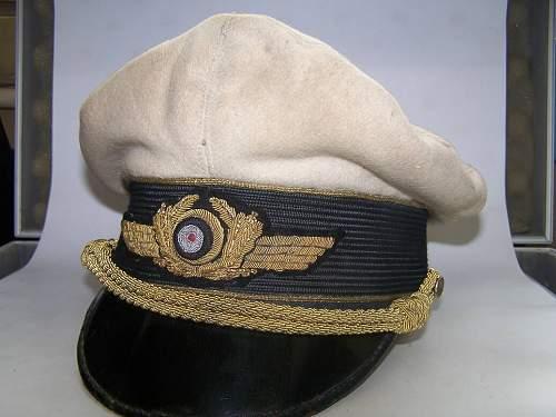 Luftwaffe general's visor hat