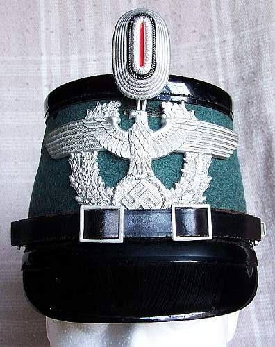 My Unissued Municipal Police Tschako!