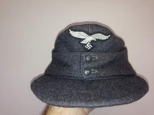 My 2 new Luftwaffe m43 caps 1944 1945