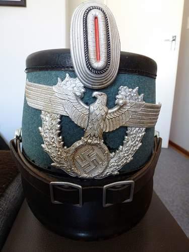 My New Arrival! Third Reich Polizei Shako