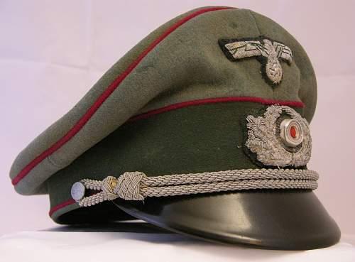 """Heer """"Nebel"""" officers schirmutze"""