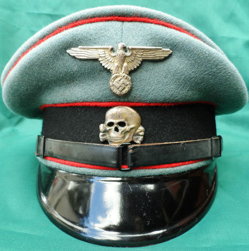 Name:  WW2 WAFFEN SS GERMAN ENLISTED NCO PEAKED CAP ARTILLERY 2.jpg