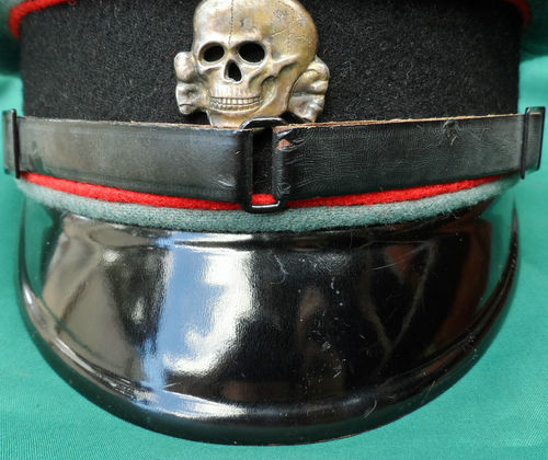 Name:  WW2 WAFFEN SS GERMAN ENLISTED NCO PEAKED CAP ARTILLERY 4.jpg