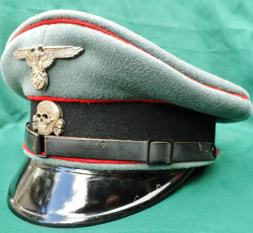 Name:  WW2 WAFFEN SS GERMAN ENLISTED NCO PEAKED CAP ARTILLERY.jpg Views: 1397 Size:  54.7 KB