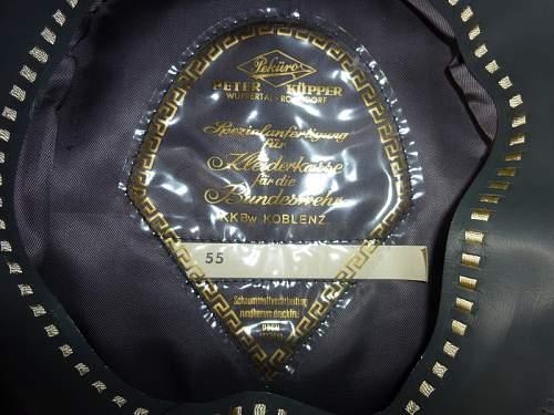 black SS cap, fake, Beinhorn, ca. 195X