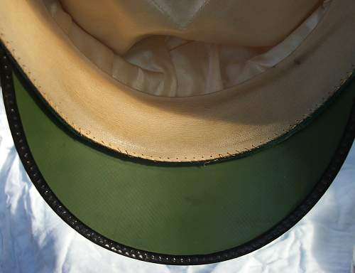 Click image for larger version.  Name:Luftwaffe officer white top visor cap 009.jpg Views:92 Size:197.6 KB ID:583718