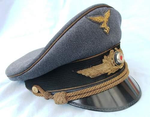 Click image for larger version.  Name:Luft general officer visor cap 007.jpg Views:275 Size:222.4 KB ID:583998