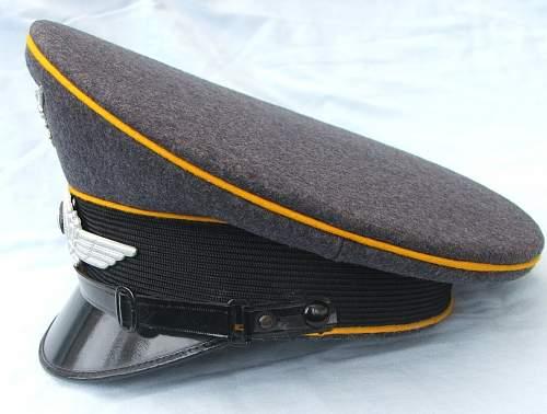 Click image for larger version.  Name:Luftwaffe NCO of flight visor cap 004.jpg Views:63 Size:219.7 KB ID:585621