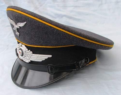 Click image for larger version.  Name:Luftwaffe NCO of flight visor cap 009.jpg Views:81 Size:206.2 KB ID:585626