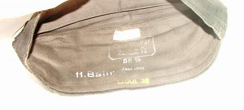 Luftwaffe mechanics black work side cap by Carl Halfar