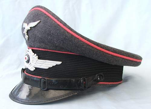 Luftwaffe OR/NCO visor cap with Rose Pink piping