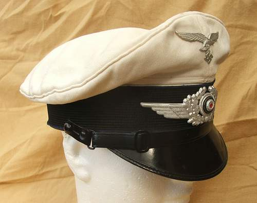 Luftwaffe OR/NCO visor cap with blue piping