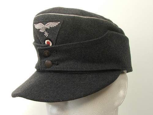 Luftwaffe officers two button M43 cap with trapezoid insignia