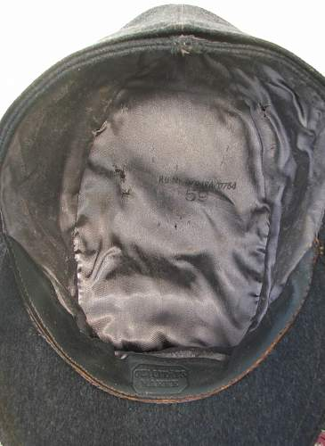 Luftwaffe Officer M43 cap with trapezoid insignia, and RB numbered