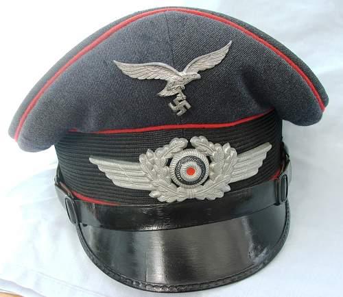 Click image for larger version.  Name:Flak NCO visor cap 007.jpg Views:93 Size:220.2 KB ID:587669