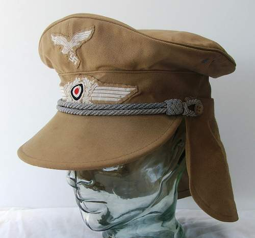 Click image for larger version.  Name:Luftwaffe Meyer cap with neck flap 001.jpg Views:557 Size:172.5 KB ID:588967