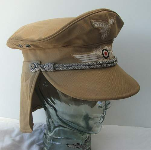 Click image for larger version.  Name:Luftwaffe Meyer cap with neck flap 004.jpg Views:164 Size:157.5 KB ID:588970