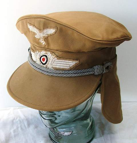Click image for larger version.  Name:Luftwaffe Meyer cap with neck flap 006.jpg Views:174 Size:155.3 KB ID:588971