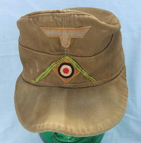 Heer DAK M40 cloth cap, 1st type, for Panzer-Grenadiers