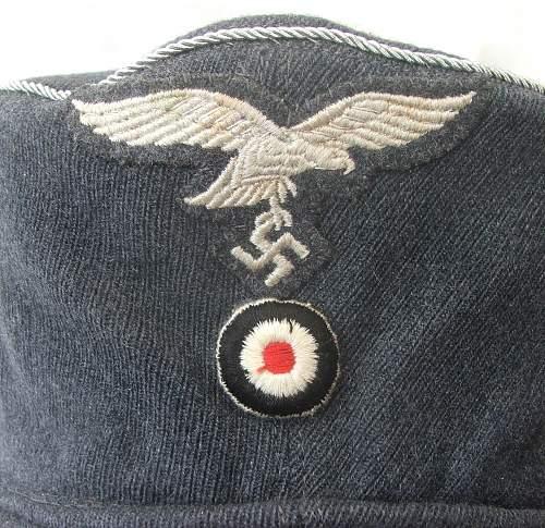 Luftwaffe single button early short billed feldmutze