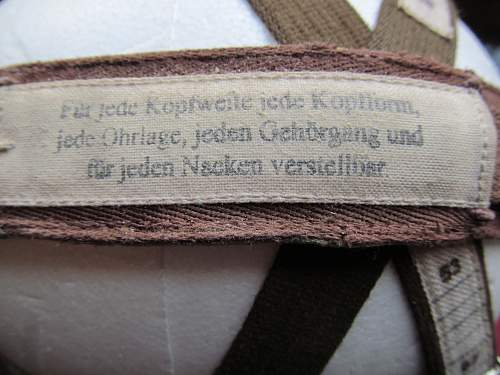Luftwaffe flight helmet for measurement
