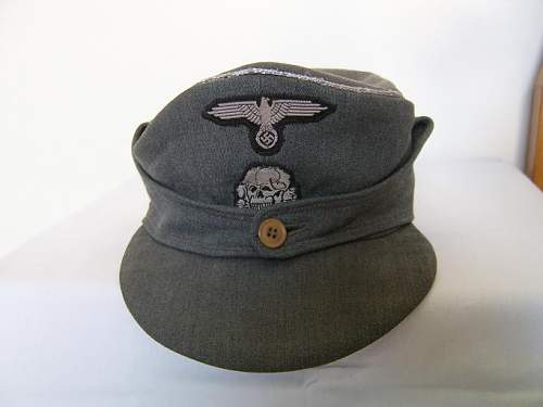 M-43 waffen ss statni cap insignia restored