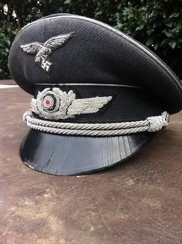 Luftwaffe officer's cap maker?